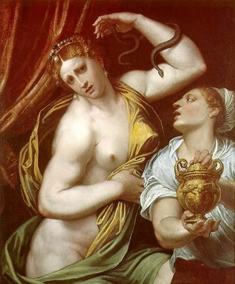 Cleopatra, Domenico Brusasorzi, 1552
