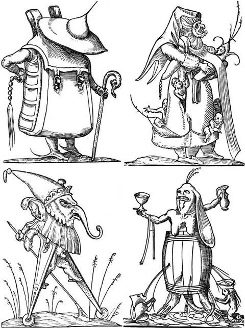 François Desprez - The Droll Dreams of Pantagruel (1565) 4