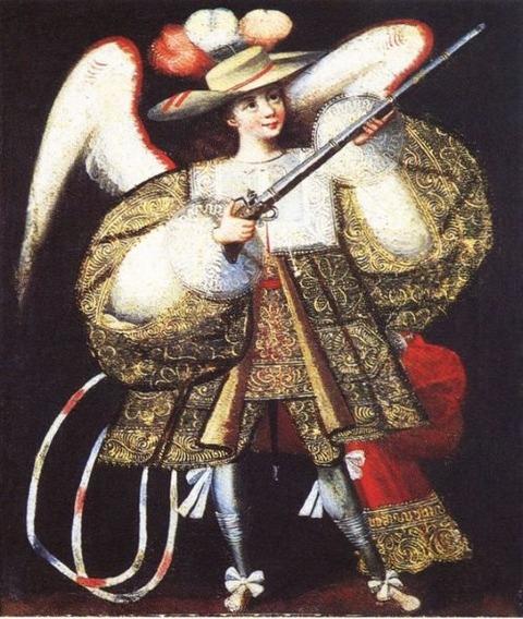 ángel arcabucero (arquebusier angel