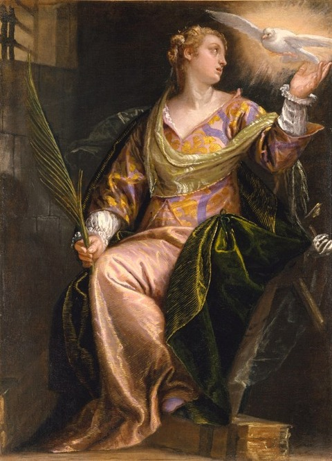Saint Catherine in Prison - by Paolo Veronese, 1585