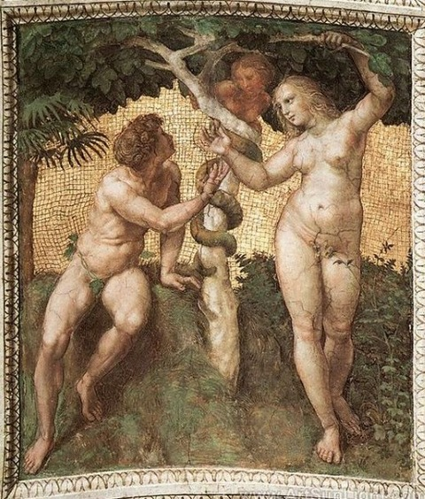 Adam and Eve, Raphael