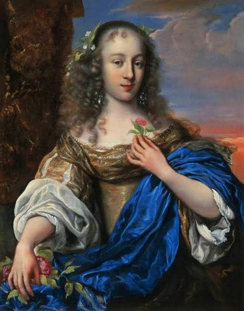 Portrait of a Young Woman as Flora OVENS, J・gen 1660