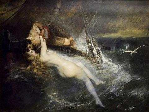 Gustav Wertheimer - The Kiss of the Siren (1882)