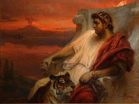 Jan Styka - Nero at Baiae イタリアのバイアエ 1900