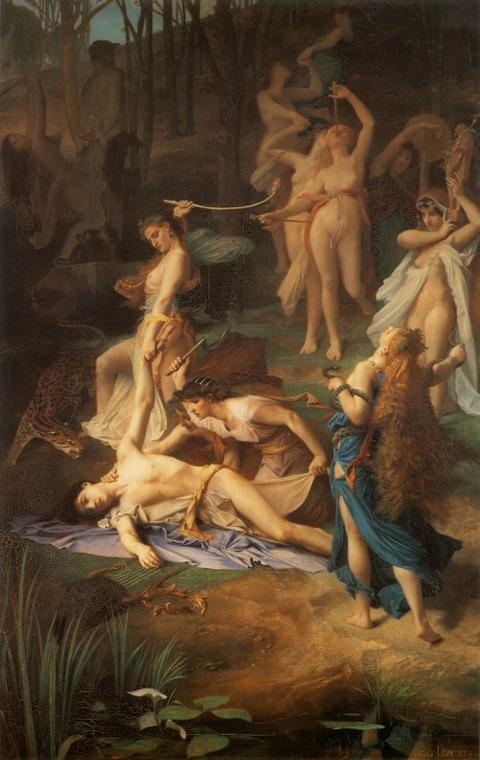 Death of Orpheus by Émile Lévy (1866)1