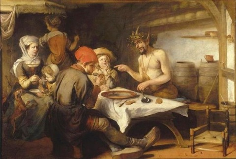 Barent Fabritius The Satyr and the Peasant 1650-60