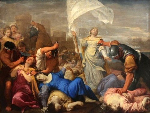 The Martyrdom of St. Ursula  Lorenzo Pasinelli