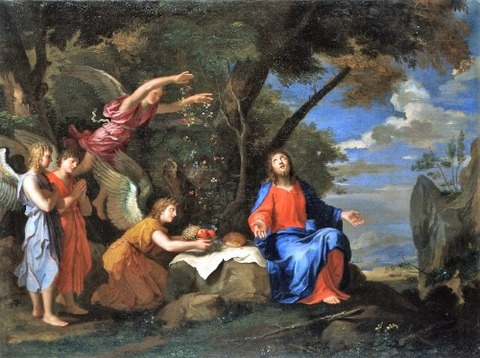 Jacques Stella, Christ Ministered To By Angels 1635-40