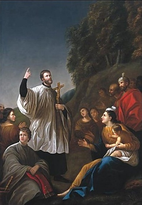 Francis Xavier Preaching in India  Antoine Plamondon