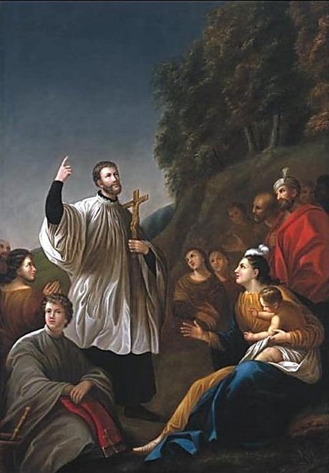 Francis Xavier Preaching in India  Antoine Plamondon