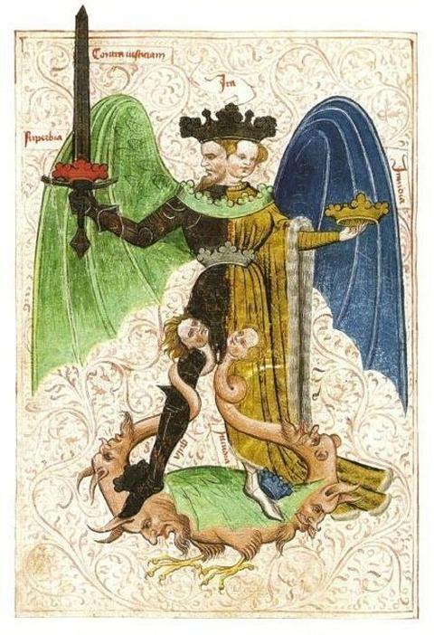 Le livre de la sainte trinité circa 1400  An Alchemy artwork