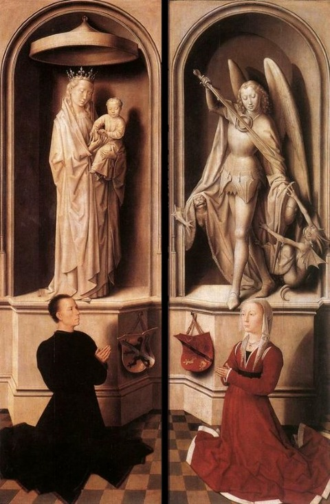 Hans Memling, Last Judgment Triptych (closed), 1467-71