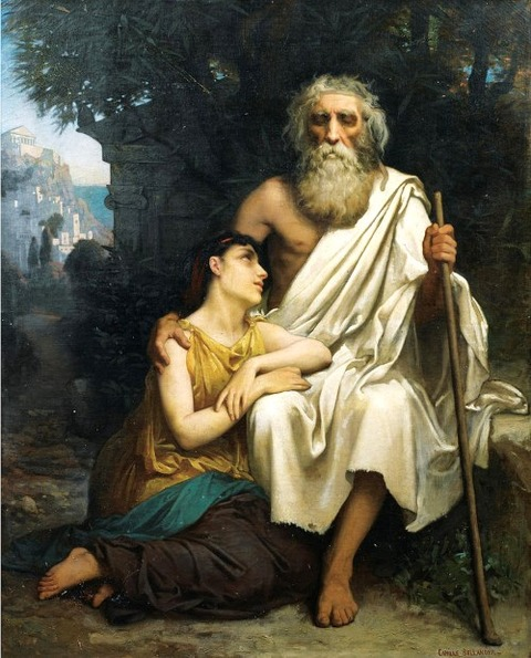 Oedipus And Antigone by Camille-Felix Bellanger