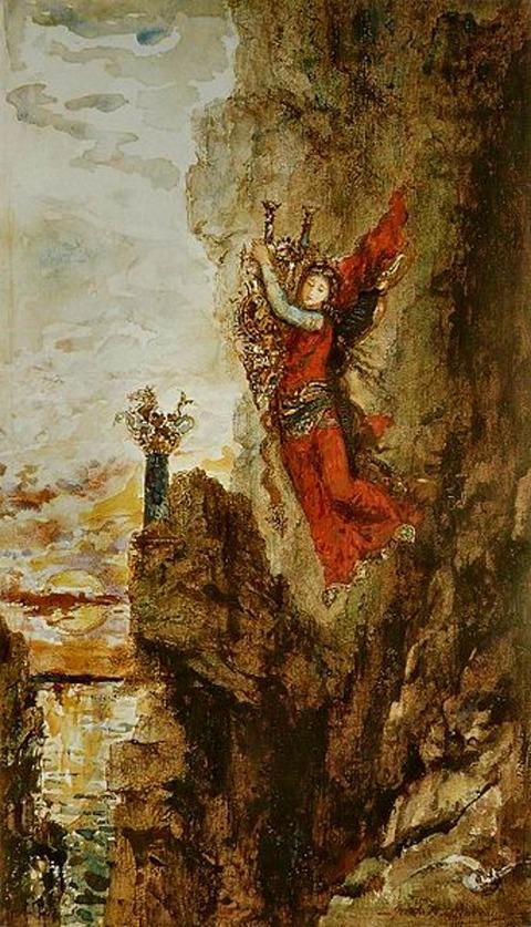 Gustave Moreau - Sapho à Leucade 1826-98