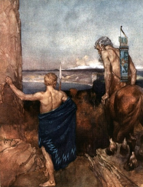 Jason and the Centaur Chiron William Russell Flint 1924