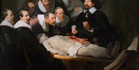 The Anatomy Lesson of Dr. Nicolaes Tulp, by Rembrandt, 1632 -