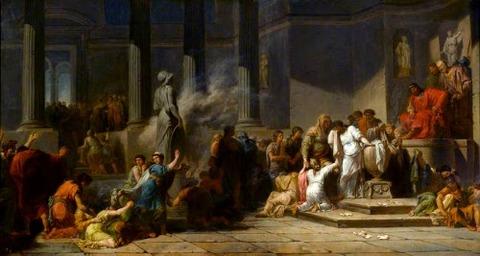 Jean-François-Pierre Peyron 1744–1814 ミノタウロスの生贄