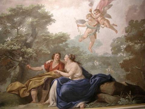 Sala dell'orlando , affreschi di Giuseppe Antonio Fabbrini