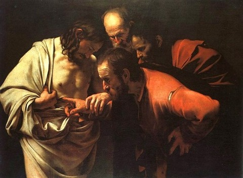 Caravaggio - The Incredulity of Saint Thomas 1601