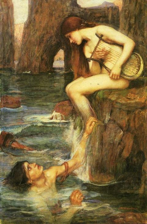 John William Waterhouse The Siren 1900