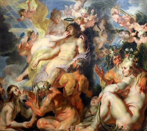 Jacob Jordaens. The Apotheosis of Aeneas. c.1617
