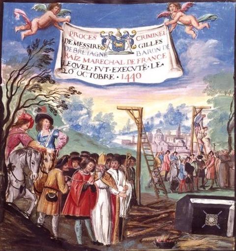 Exécution Gilles de Rais 1530