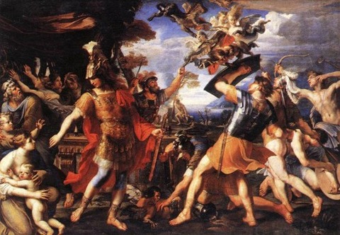 François Perrier, Aeneas Companions Fighting  Harpies 1646-47