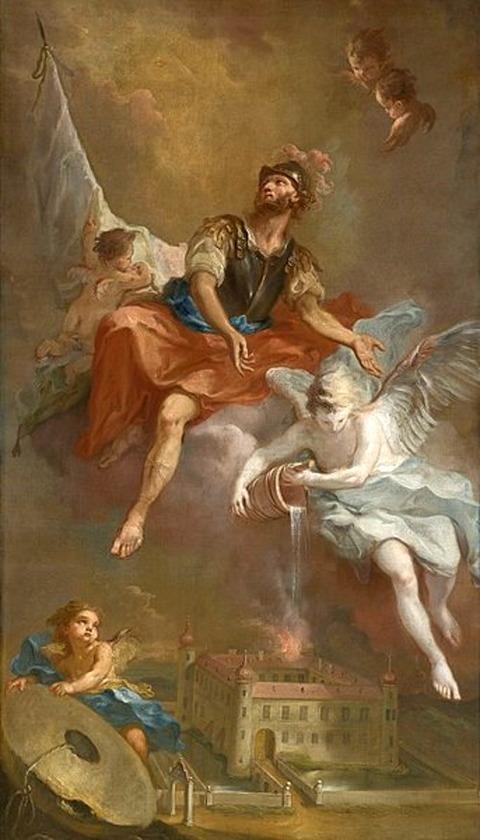 Martin Johann Schmidt St. Florian rettet Stockern