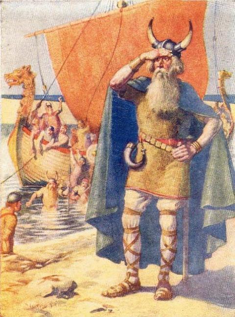 ヴィンランドに上陸したレイフ・エリクソン 1908年