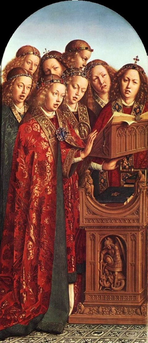 von eyck Singing Angels1427-29