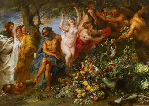 Pythagoras advocating vegetarianism 1618-20 Rubens Frans Snyders