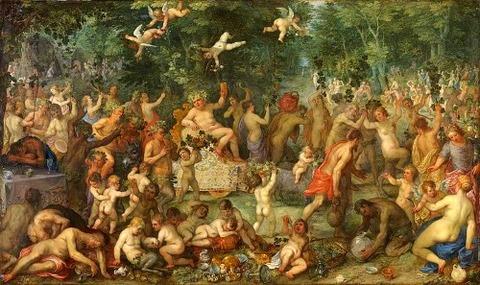 Jan Brueghel d. Ä. mit Hendrik van Balen - Bacchanal 1610