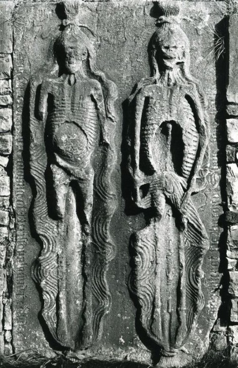 12th century Irish Cadaver tomb, St Peters Church, Louth
