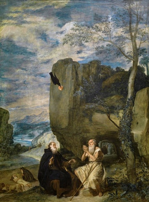 st anthony abbot and st paul the hermit Diego Velazquez