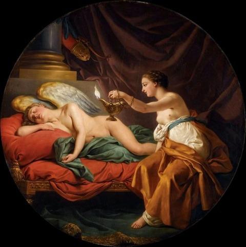 Psyche with Sleeping Cupid  Louis Jean Francois Lagrenee