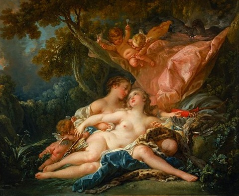 Jupiter and Callisto by François Boucher 1759