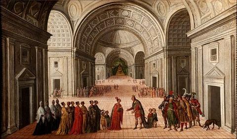Circle of Juan de la Corte  Meeting  Solomon and Sheba1630-60