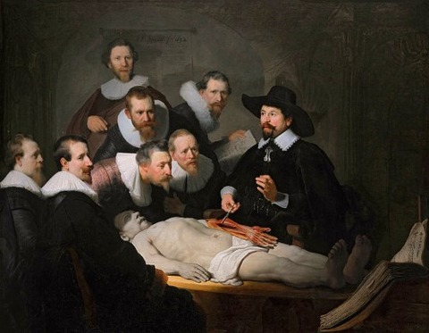 The Anatomy Lesson of Dr. Nicolaes Tulp, by Rembrandt, 1632