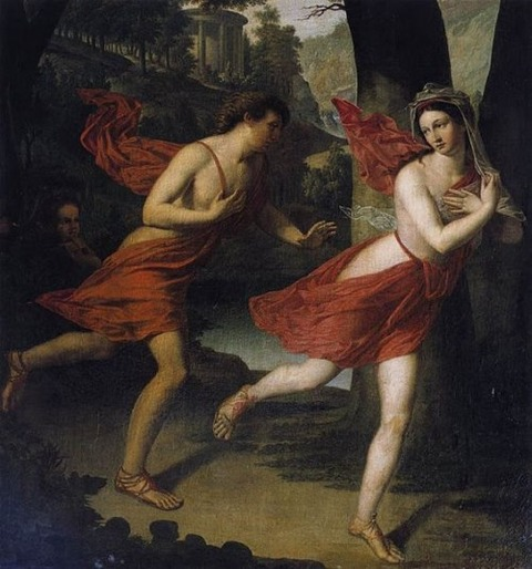 Robert Lefevre - Daphne fleeing Apollo