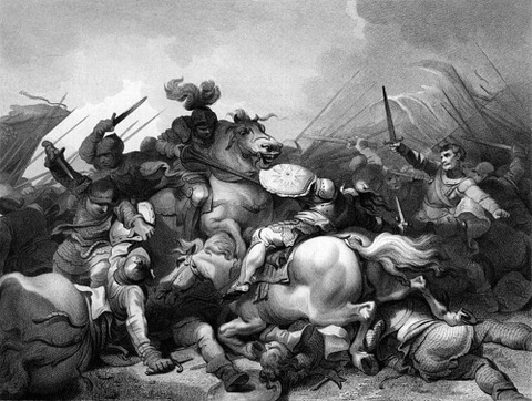 Battle of Bosworth by Philip James de Loutherbourg  1857