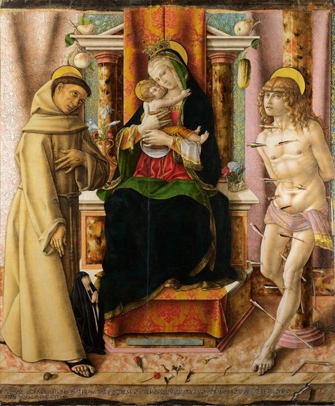 The Virgin and Child with Saints Francis and Sebastian, 1491
