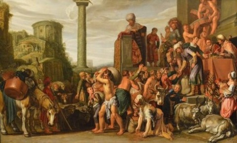 Joseph Selling Corn in Egypt Pieter Lastman