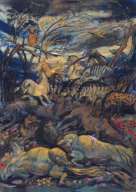 Le charnier (Mass grave)  Henry De Groux, 1894