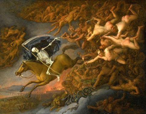 Death Leading Hells Army  English School 1800