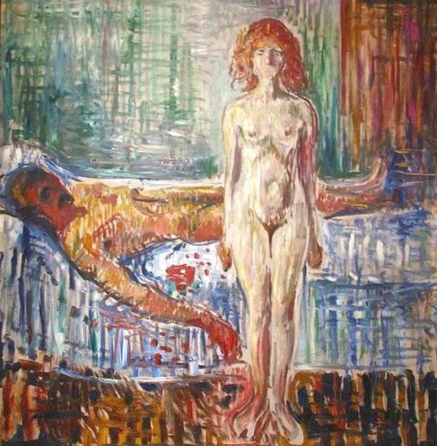 Edvard Munch  The Death of Marat II (1907)