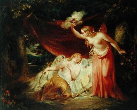 Psyche Enamoured of Cupid  John Wood