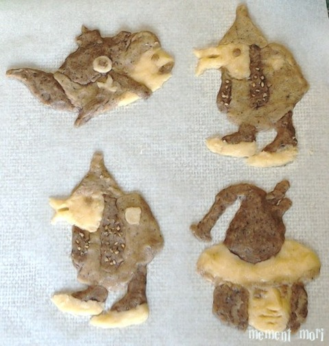 怪物クッキー焼く前 (2)