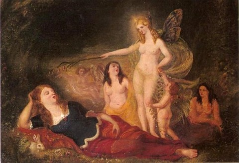 Midsummer's Night's Dream  Attributed To David Scott 1806-49
