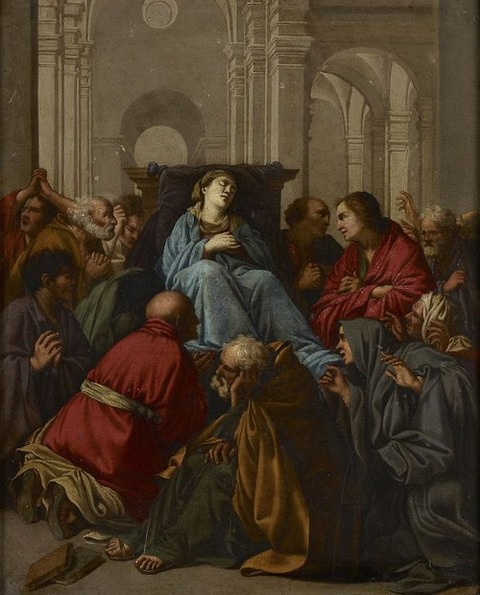 School of Carlo Saraceni - Death of the Virgin