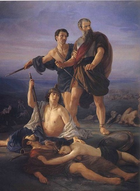 Death of King Saul 1848 Elie Marcuse